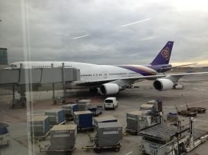 Unser Flugzeug kurz vorm Boarding
