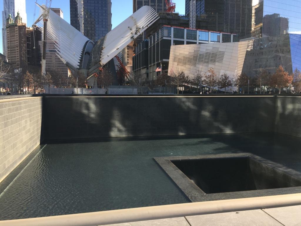 Denkmal an den Ruinen des alten WTC