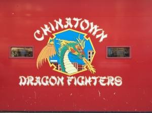 Die Feuerwehr in Chinatown hat Humor